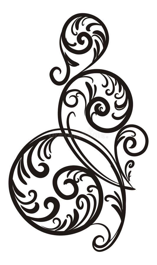 Download Branch-swirl. stock vector. Illustration of elegant, corner - 14973367