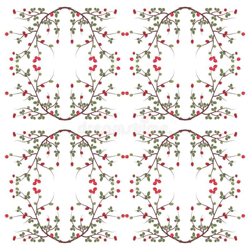 Branch wild rose pattern