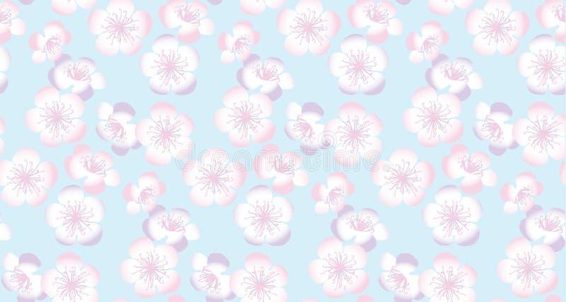 Branche décorative de Sakura Configuration sans joint florale illustration libre de droits