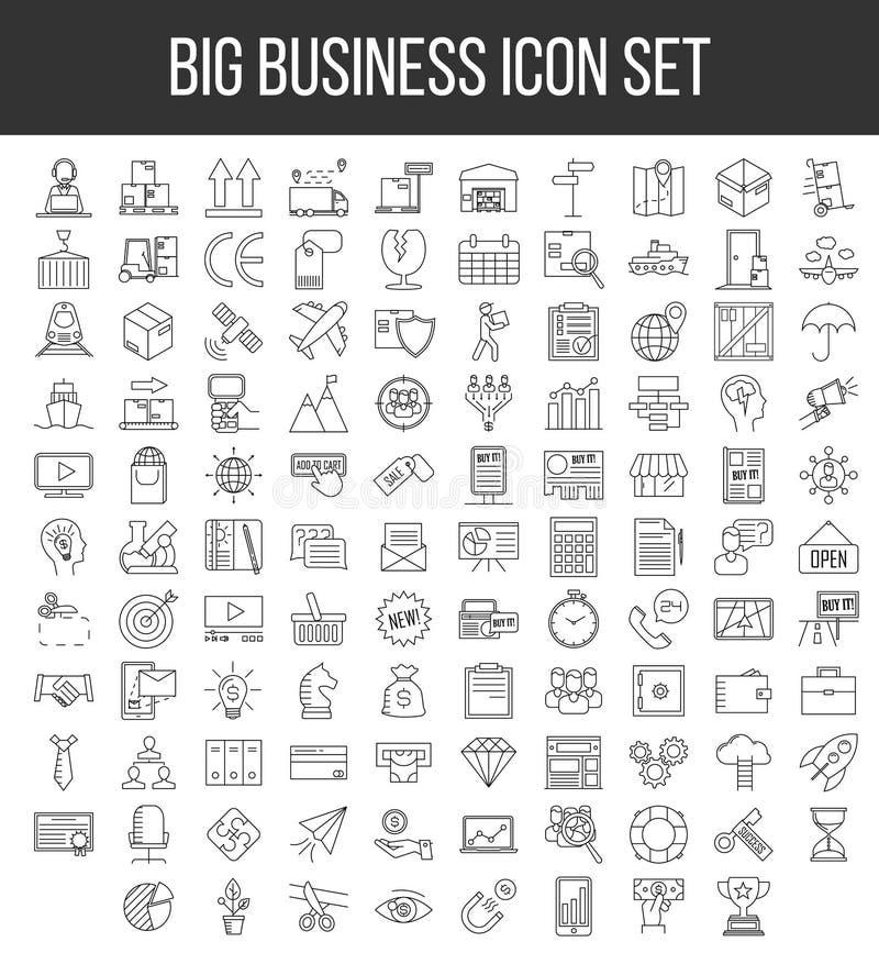 Branche d'activité ensemble d'icône illustration stock
