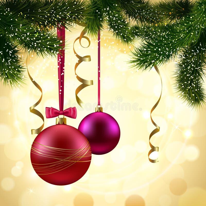 Branche d'arbre de Noël illustration de vecteur