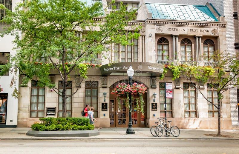 Branche de banque de fiducie du nord Chicago photographie stock libre de droits