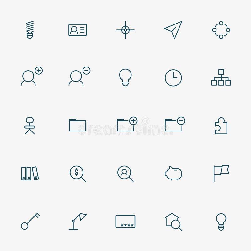 branche de l'activité 25 icônes illustration de vecteur