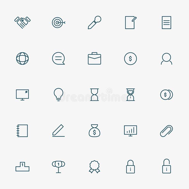 branche de l'activité 5x5 icônes illustration de vecteur
