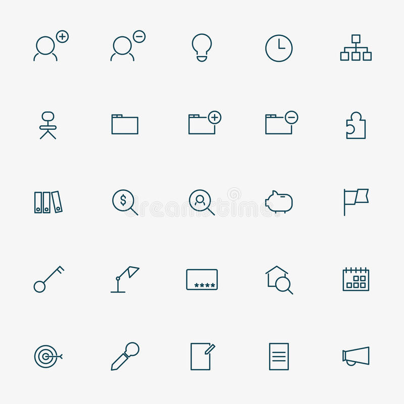 branche de l'activité 25 icônes illustration libre de droits