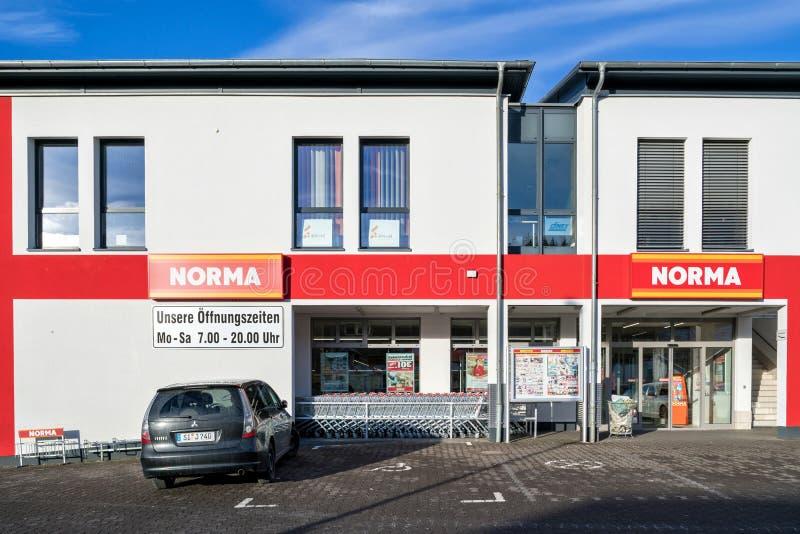 Branche de Norma dans Kreuztal, Allemagne photo libre de droits