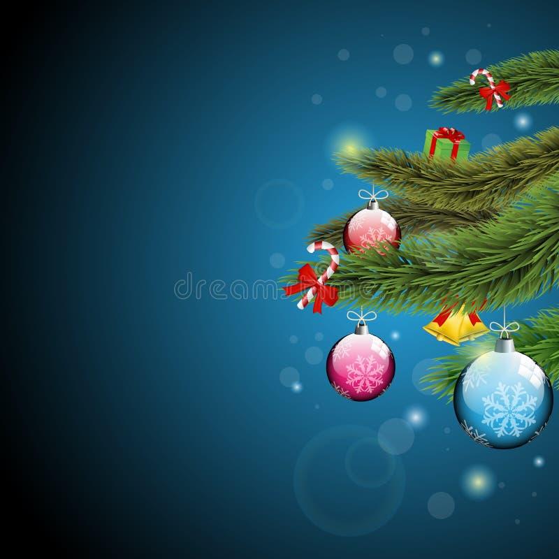 Branchements d'arbre de Noël illustration de vecteur