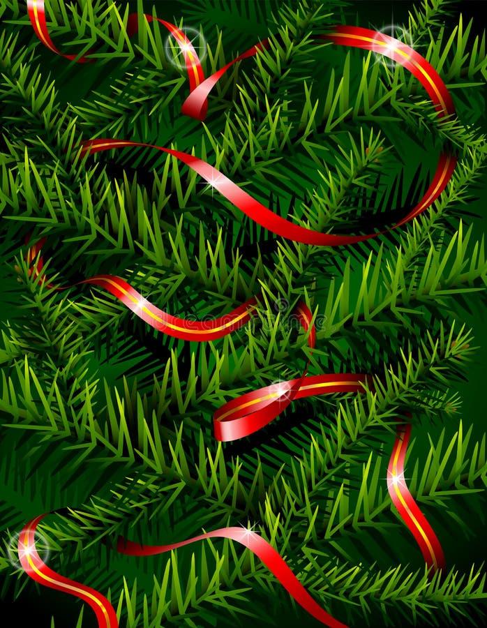 Branchements d'arbre de Noël et bande décorative illustration libre de droits