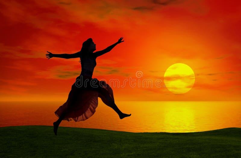 Brancher au coucher du soleil images stock