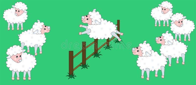 Brancher de moutons illustration de vecteur