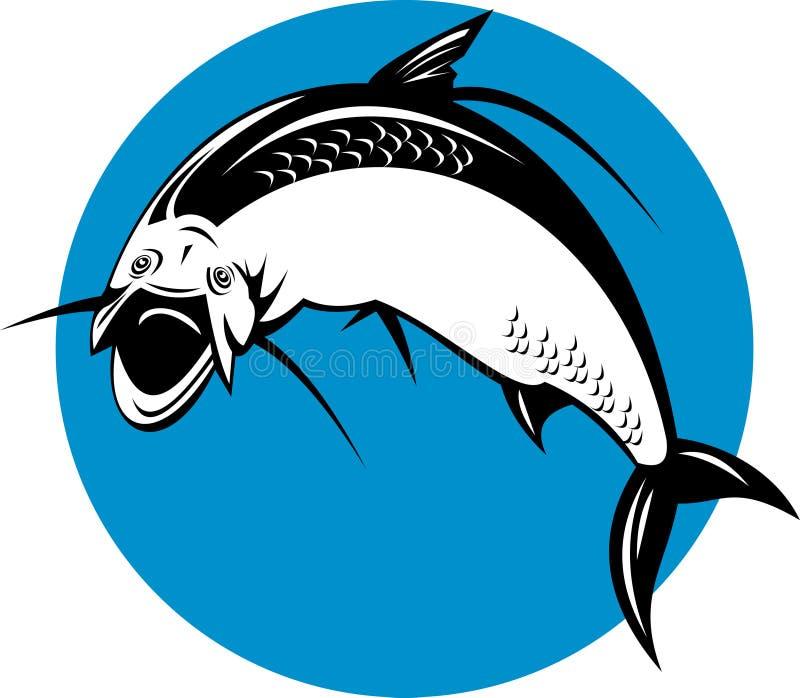 Brancher de poissons de tarpon illustration stock