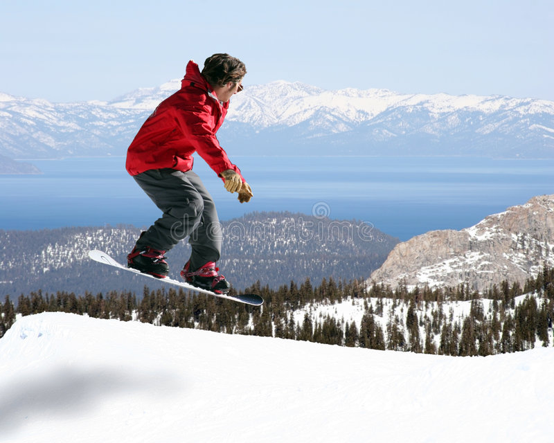 Brancher de Snowboarder photos stock