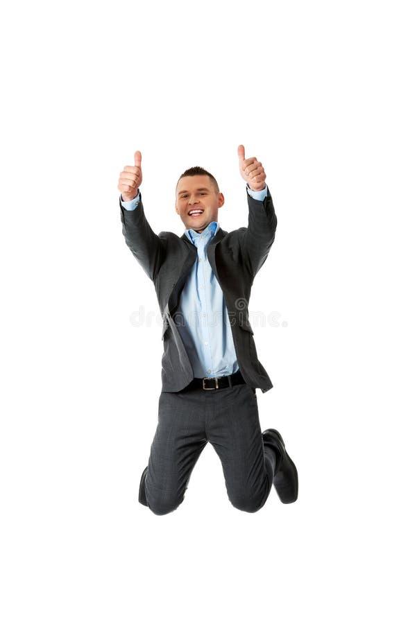Brancher heureux d'homme d'affaires image libre de droits