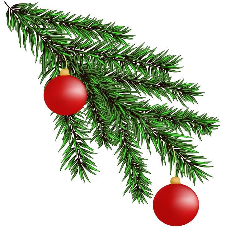 branches de Noël-arbre photographie stock