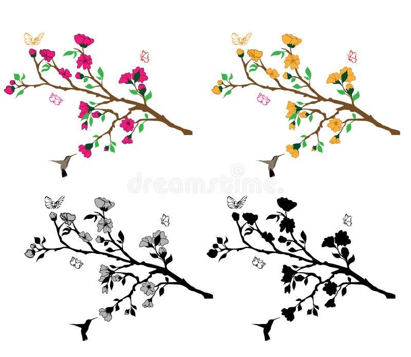 Download Branches Flower Decla stock vector. Image of songbird - 25466042