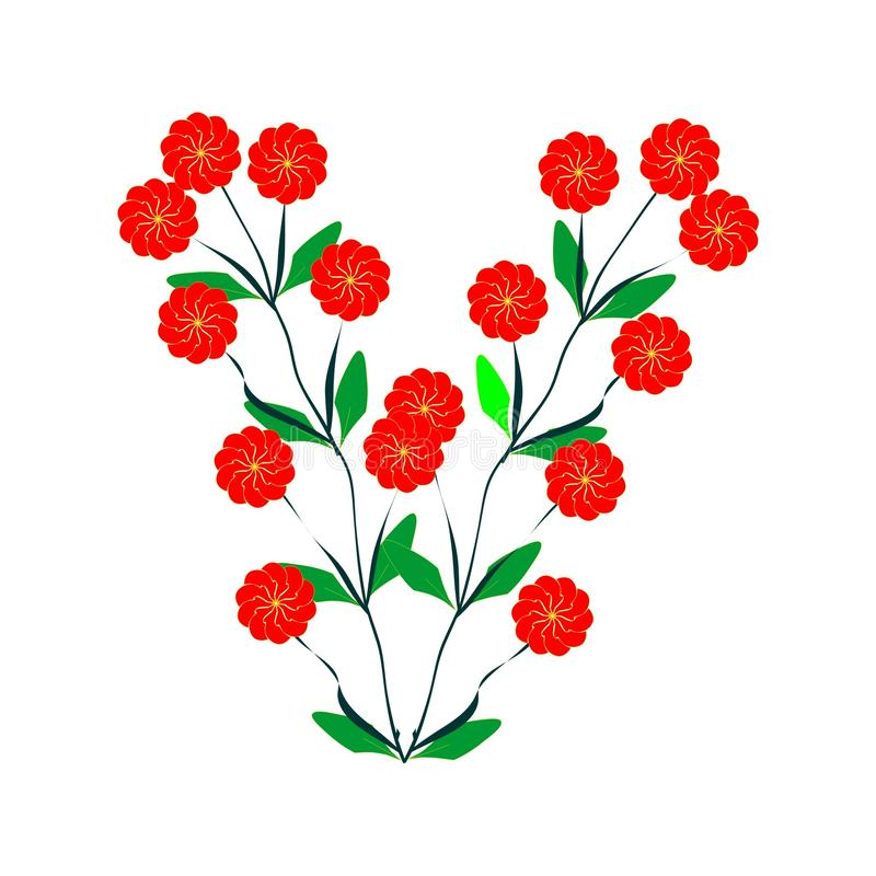 Download Branches Of Red Daisies Royalty Free Stock Photo - Image: 12741805