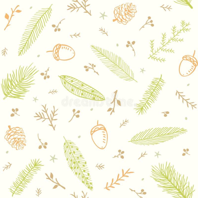 Branches sans couture de modèle illustration stock