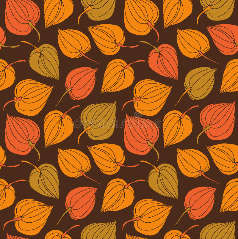 Branches seamless ornamental pattern. Decorative modern floral background royalty free illustration