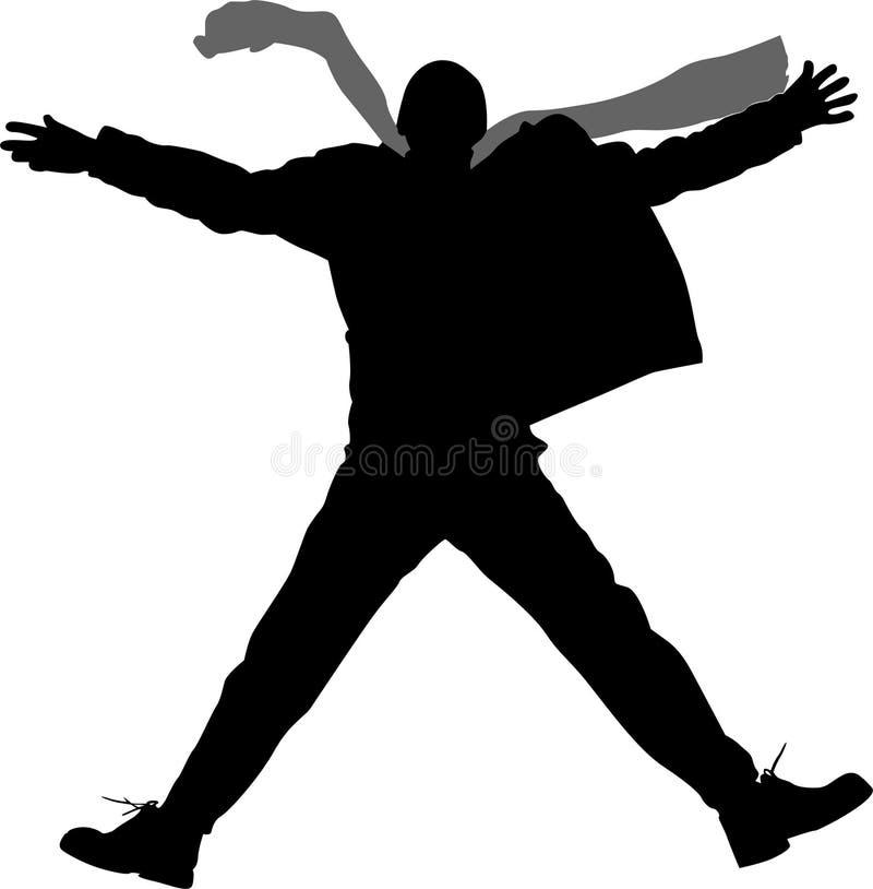 Branchez la silhouette d'homme illustration stock