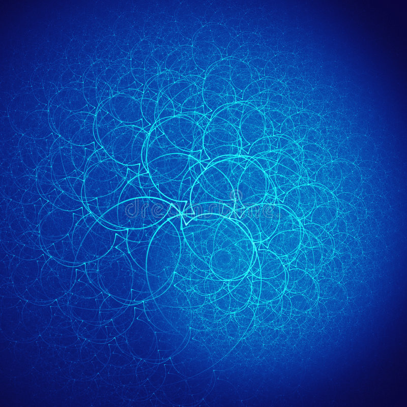 Branchs azules de la jerarquía libre illustration