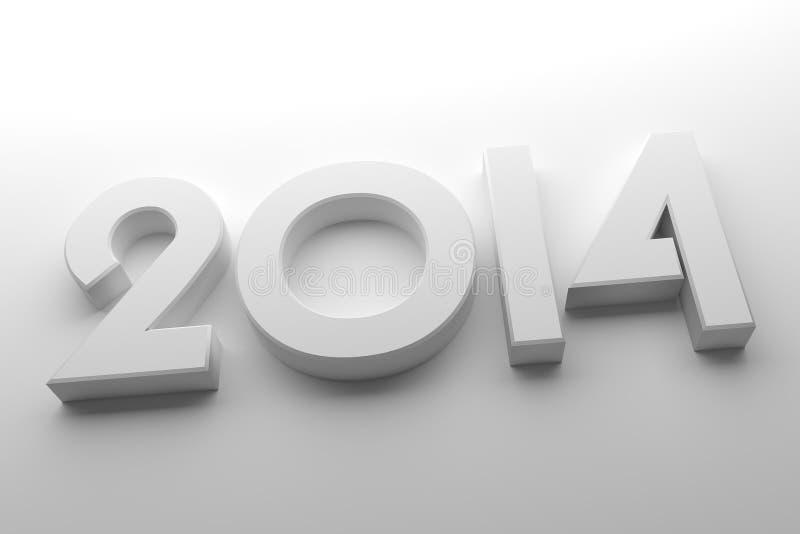 Branco 2014 ilustração do vetor