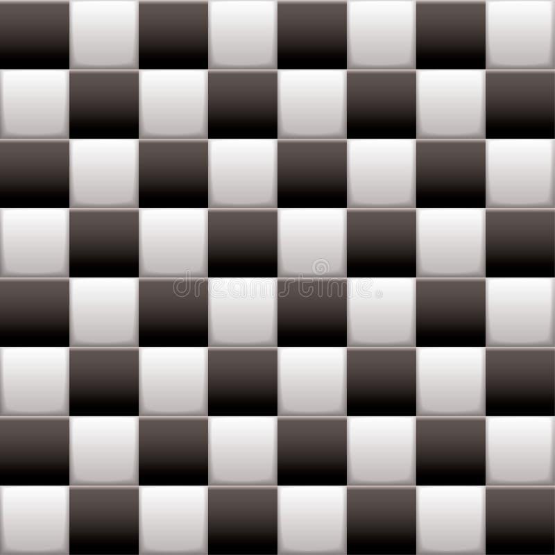 Branco Checkered do preto n ilustração do vetor