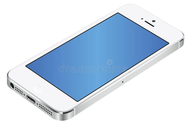 Branco 3d de Iphone 5 ilustração royalty free