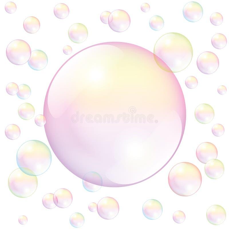 Branco da bolha de sabão ilustração do vetor