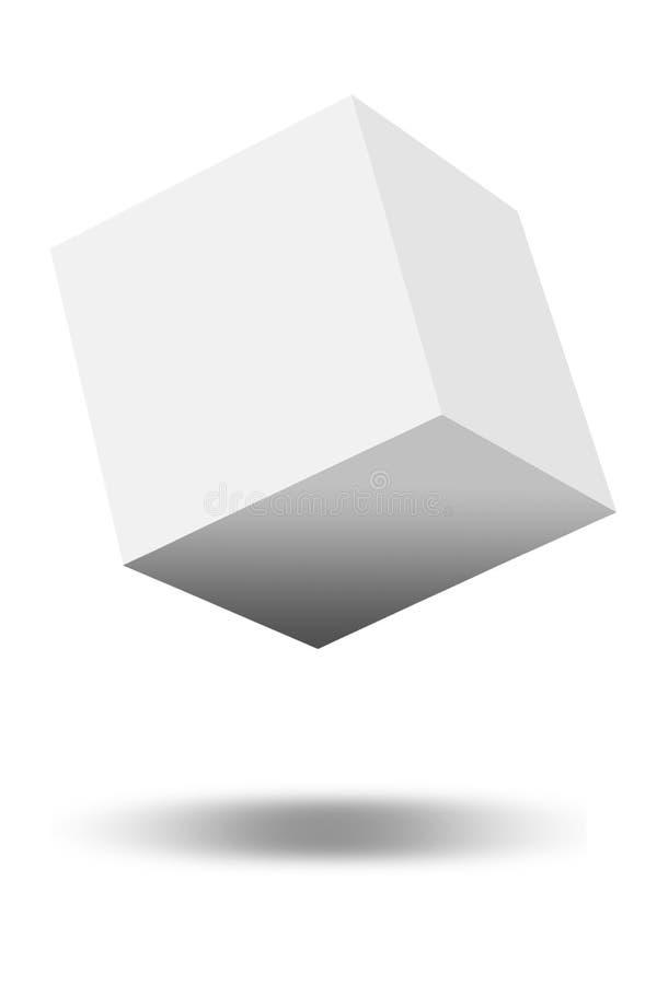 Branco da forma do cubo do negócio ilustração do vetor