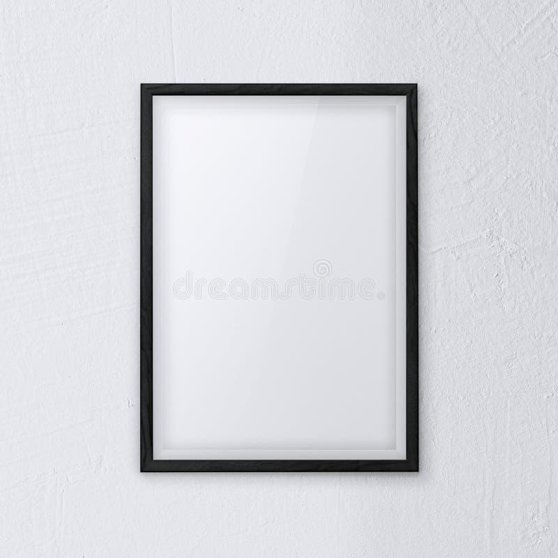Branco da parede do quadro fotografia de stock royalty free
