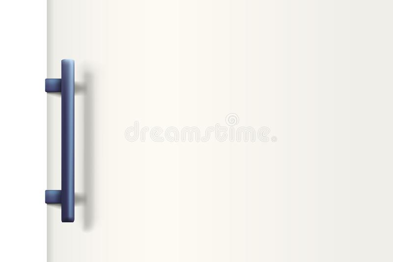 Branco da porta do refrigerador ilustração do vetor