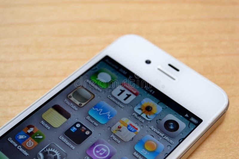 Branco de Iphone 4 fotos de stock