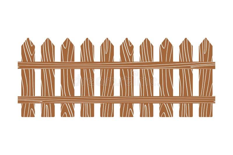 Branco de madeira rural da ilustração do vetor da cerca ilustração stock
