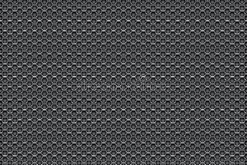 Branco de prata do metal para enegrecer o fundo do teste padrão com pentagons fotos de stock royalty free
