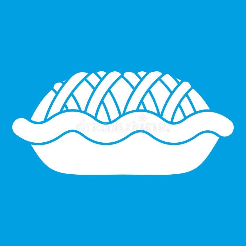 Branco do ícone da torta ilustração royalty free