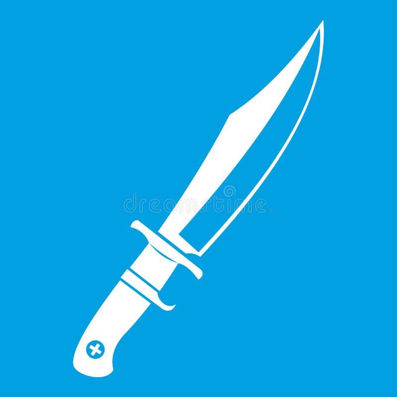 Branco do ícone do punhal ilustração royalty free