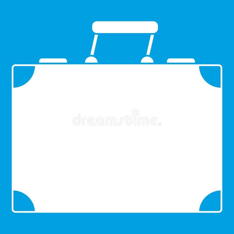 Branco do ícone do saco do curso ilustração stock