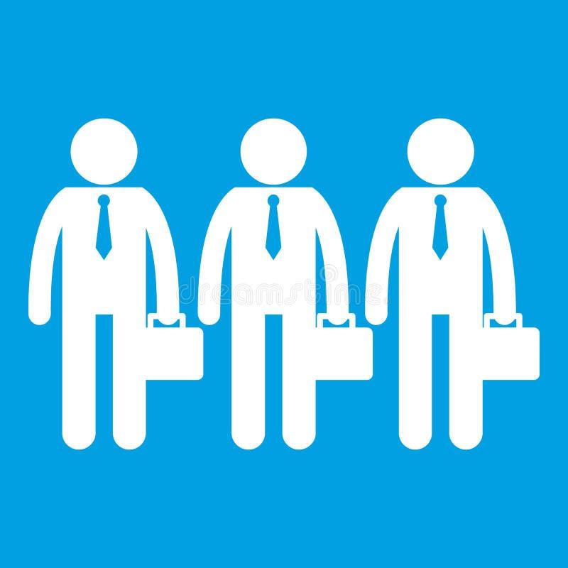 Branco do ícone do negócio ilustração stock