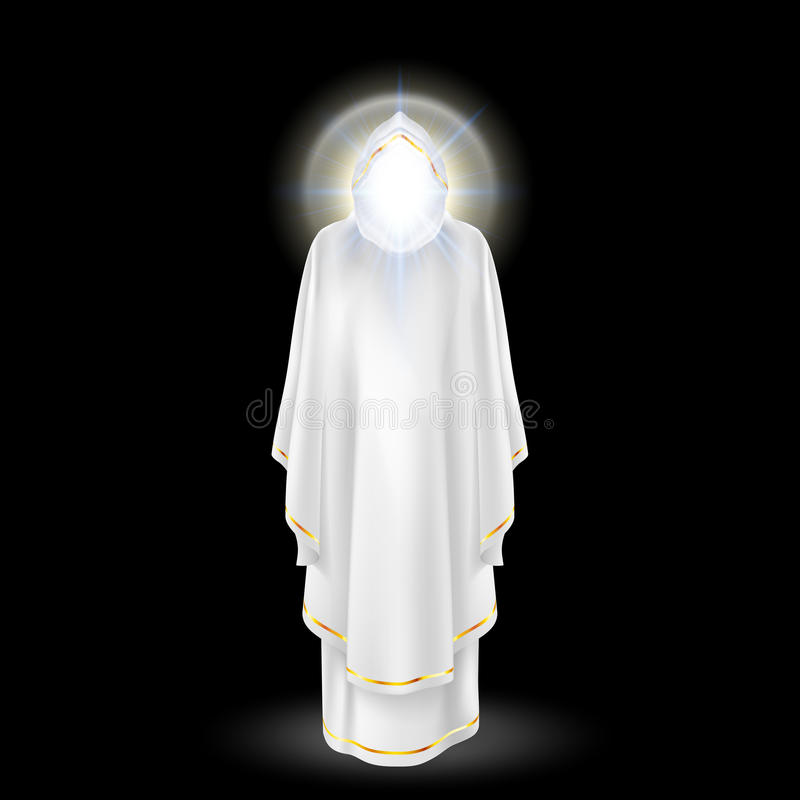 Branco do anjo ilustração stock