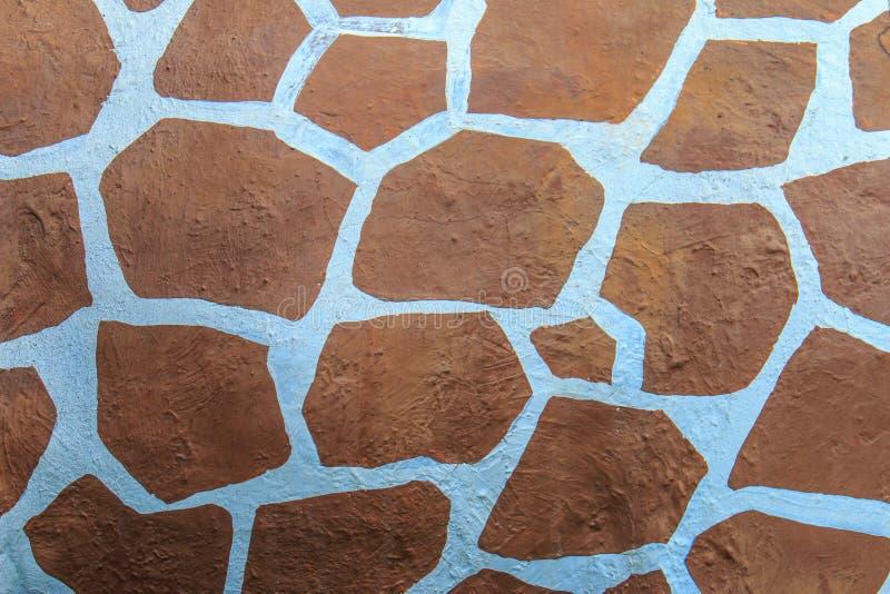 Branco do marrom do teste padrão da textura do girafa do estuque fotografia de stock royalty free