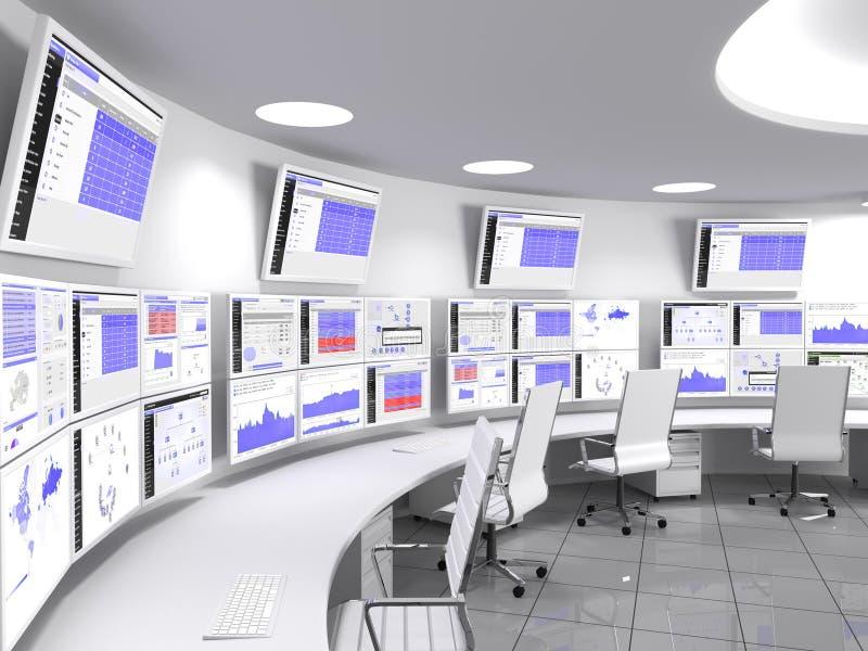 Branco do Network Operations Center ilustração stock