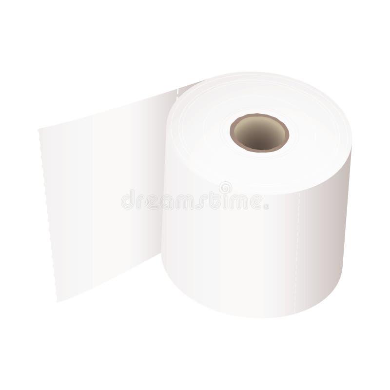 Branco do rolo de toalete ilustração stock