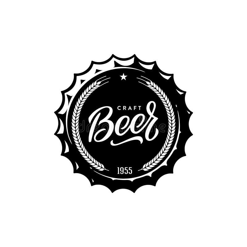 Branco do tampão da cerveja Para o bar, barra Ilustração do vetor ilustração royalty free