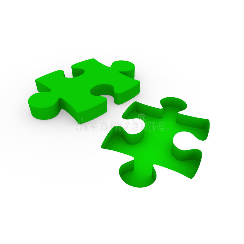 branco do verde do enigma 3d ilustração do vetor