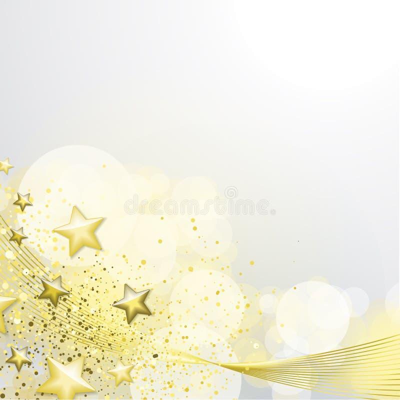 Branco e fundo do ouro ilustração stock