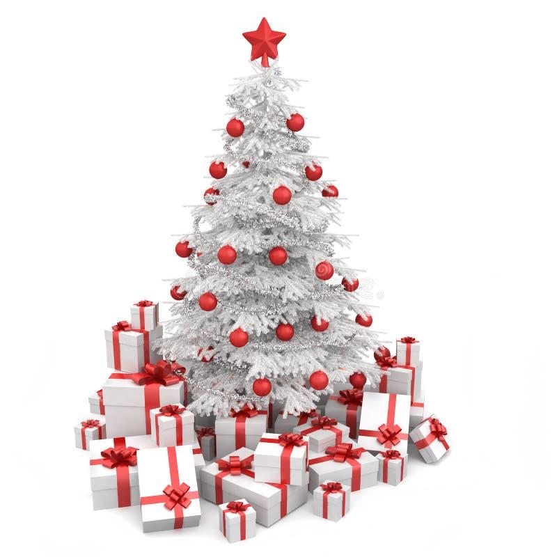 Branco e Natal isoloated vermelho ilustração royalty free