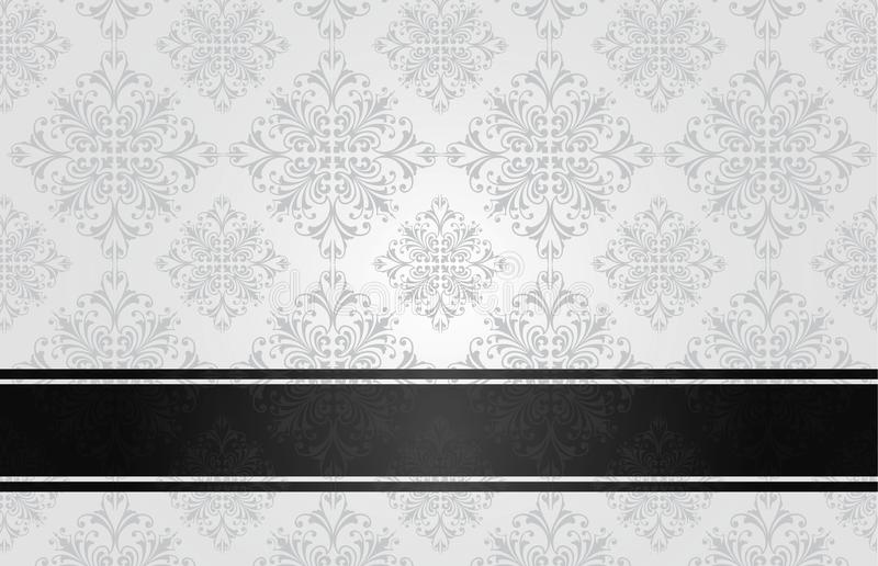 Branco floral luxuoso ilustração do vetor