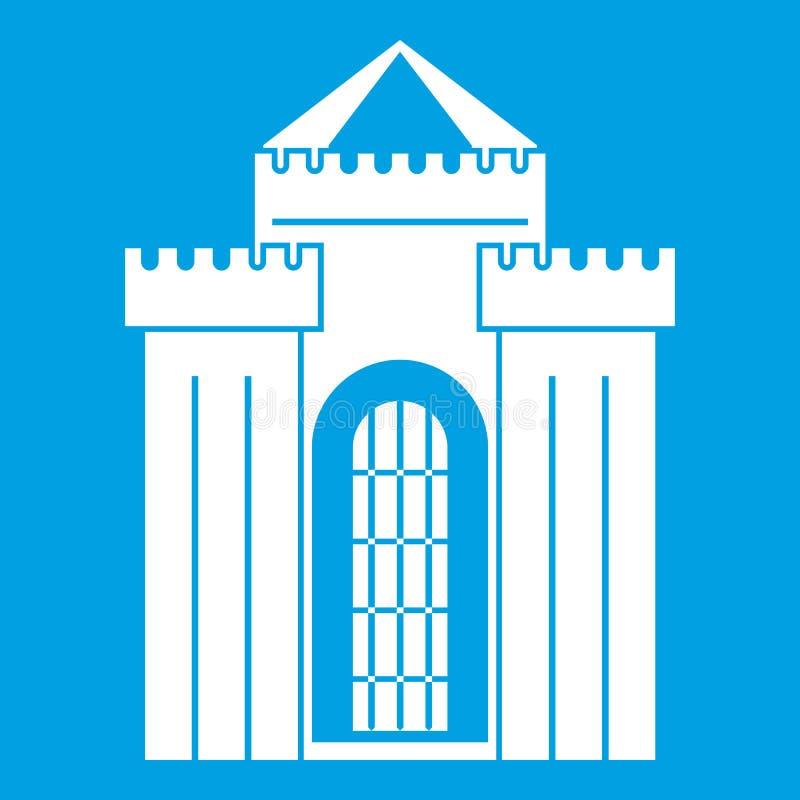 Branco medieval do ícone do palácio ilustração royalty free
