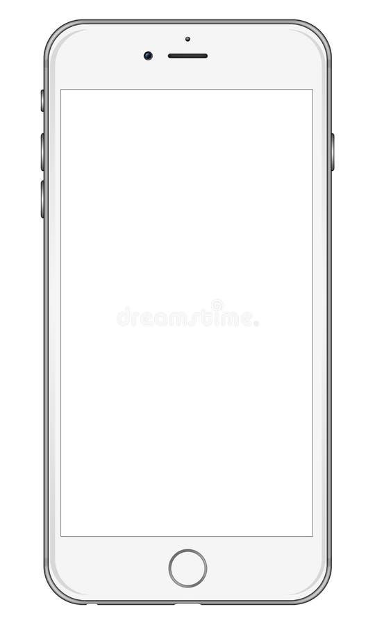 Branco novo do iPhone 6 de Apple ilustração royalty free