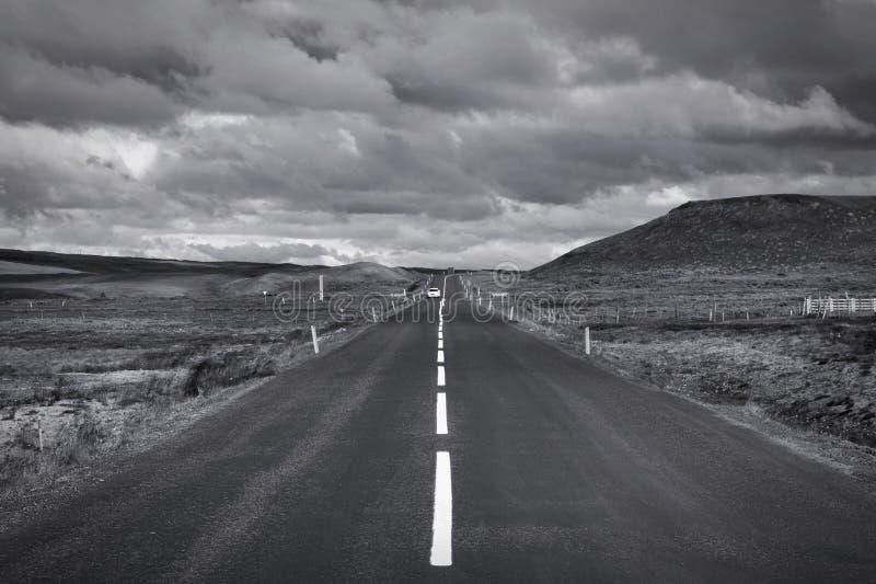 Branco preto de Islândia imagens de stock royalty free